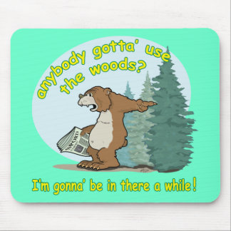 Bear-in-woods Mouse Pad