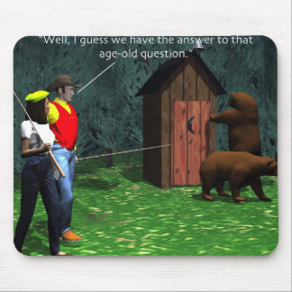 Bear in Woods Mouse Pad