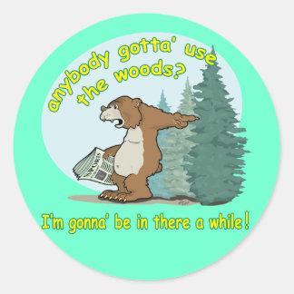 Bear-in-woods Stickers