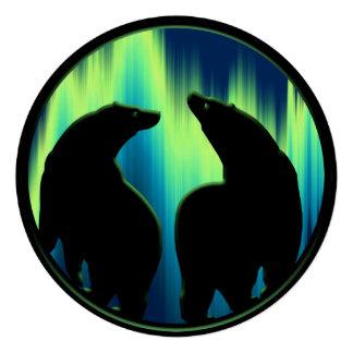 Bear Invitations Personalized Aurora Bears Card
