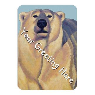 "Bear Invitations Personalized Polar Bear Art Cards 3.5"" X 5"" Invitation Card"
