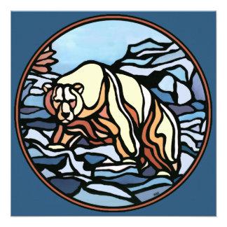 Bear Invitations Personalized Polar Bear Art Cards