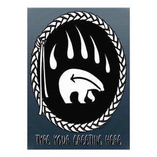 Bear Invitations Personalized Tribal Bears Card