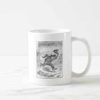 Bear is Chased by a Swarm of Angry Bees Classic White Coffee Mug