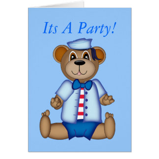 bear, Its A Party! Card