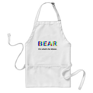 Bear.  It's what's for dinner. Apron