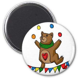 Bear juggling magnet