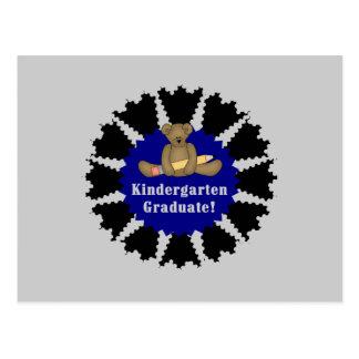 Bear Kindergarten Graduate - Blue Postcard