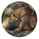 Bear Kiss Large Clock