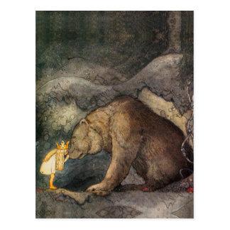 Bear Kiss Postcard