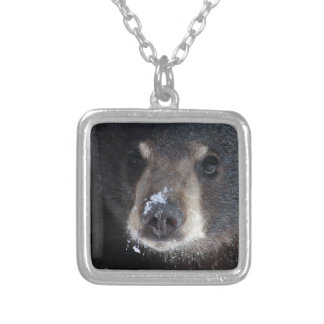 Bear Kisses Anyone? Silver Plated Necklace