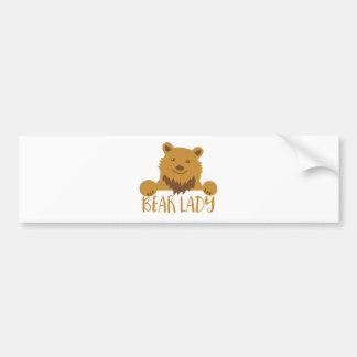 bear lady cute bumper sticker