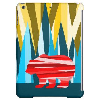 Bear Landscape Mountain Pattern iPad Air Cases