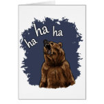 Bear Laughing Greeting Card