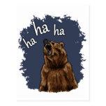 Bear Laughing Postcard