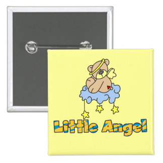 Bear Little Angel Tshirts and Gifts Pinback Buttons