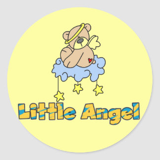 Bear Little Angel Tshirts and Gifts Classic Round Sticker