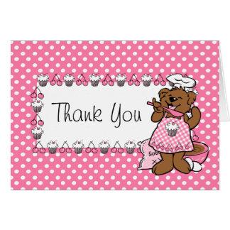 Bear Little Baker Custom Card