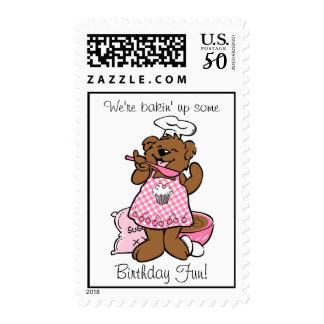 Bear Little Baker Custom Postage