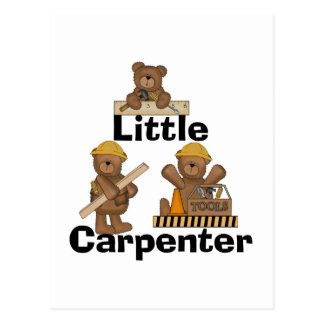 Bear Little Carpenter Tshirts and Gifts Postcard