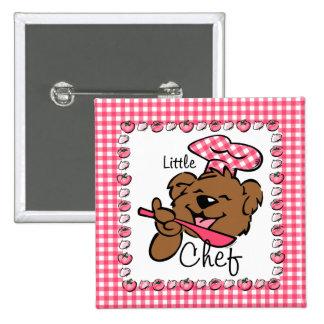 Bear Little Chef Button (Squ)