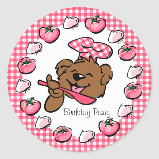 Bear Little Chef Custom Sticker
