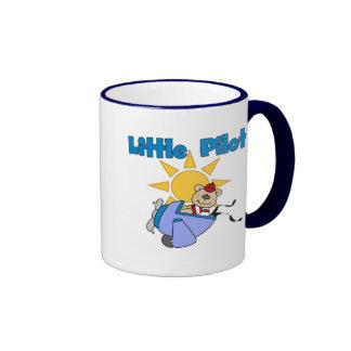 Bear Little Pilot T-shirts and Gifts Ringer Coffee Mug
