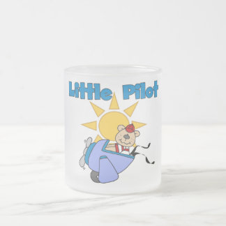 Bear Little Pilot T-shirts and Gifts 10 Oz Frosted Glass Coffee Mug