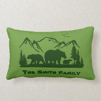 Bear Lodge Decor Pillow (Personalize)