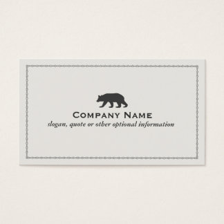 Bear Logo Business Card