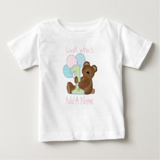 Bear Look Who's 1 Personalized Tshirt