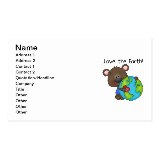Bear Love the Earth Business Card Template