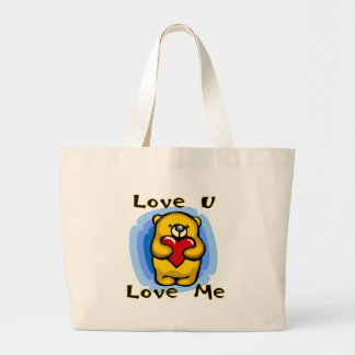 Bear Love U Love Me Tshirts and Gifts Tote Bag