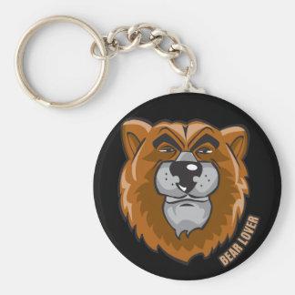 Bear Lover Basic Round Button Keychain