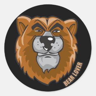 Bear Lover Round Sticker