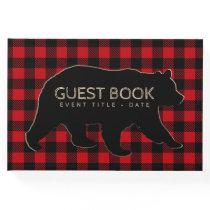 Bear Lumberjack Buffalo Plaid Guest Book