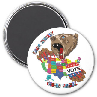 Bear-Magnet-Graphic2 Imán Redondo 7 Cm