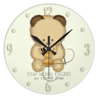 Bear Making Design Large Clock