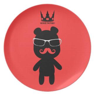 Bear man baron black plate