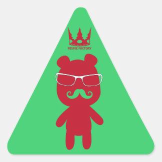 Bear man baron (red) triangle sticker