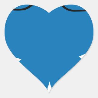 Bear man (blue) heart sticker
