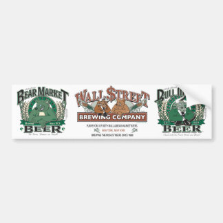 Bear Market Beer - Wall Street Brewing Company Bumper Sticker