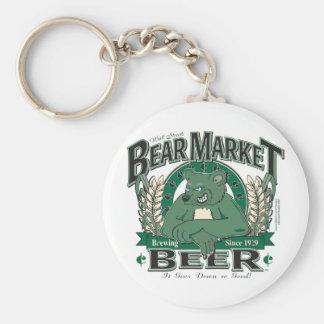 Bear Market Beer - Wall Street Brewing Company Keychain