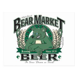 Bear Market Beer - Wall Street Brewing Company Postcard