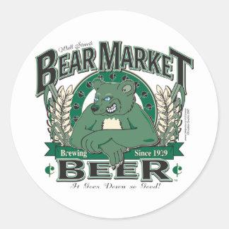 Bear-Market-CNBC-LARGE Classic Round Sticker
