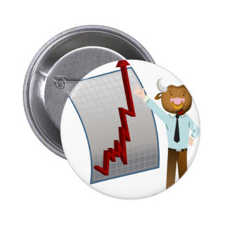 Bear Market Stock Chart Drawing 2 Inch Round Button