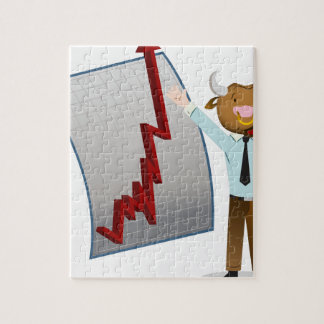 Bear Market Stock Chart Drawing Jigsaw Puzzle