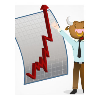 Bear Market Stock Chart Drawing Letterhead