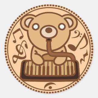 Bear_Method Classic Round Sticker