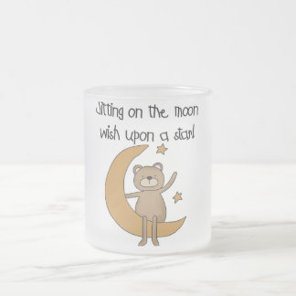 Bear Moon and Stars Tshirts and Gifts Frosted Glass Coffee Mug
